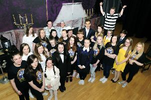 The stars of last year's Grangemouth High School show The Addams Family
