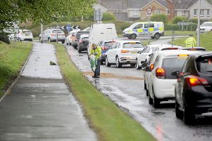 The accident  caused delays for motorists (Picture: Michael Gillen)