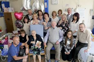 Jean Grosvenor was joined by members of her family for her 100th birthday