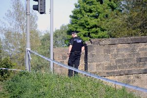 Police spent some time at the scene of the alleged assault (Picture: Michael Gillen)