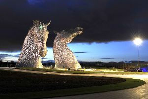 The Kelpies have become a major tourist attraction