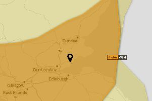 Storm Ali: Amber warning as strong winds set to hit Falkirk area