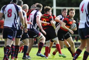 Grangemouth Stags v Hillfoots. Pic by Alan Murray.