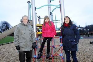 BCC secretary Lee Gillies (right) with daughter Lauren (7) and community council convenor Ian McGregor. Picture: Michael Gillen