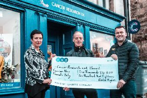 Bo'ness man breaks £40,000 barrier for cancer charity fundraising