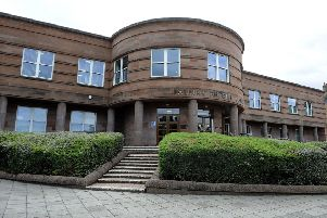 George Smith appeared at Falkirk Sheriff Court last Thursday after assaulting a man at the Sir John Graham Court sheltered housing complex in Larbert
