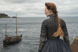 Surveying her land...Mary Queen of Scots was filmed on location across Scotland. Mary (Saoirse Ronan) and the rest of the cast and crew spent  two weeks at Blackness Castle. (Pic: Courtesy of Universal Pictures)