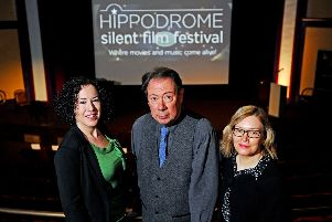 04-02-2019. Picture Michael Gillen. BO'NESS - Hippodrome - HippFest 2019 launch. Festival runs from Wednesday 20 to Sunday 24 March 2019. 9th Hippodrome Silent Film Festival. Alison Strauss Festival Director; Mike Nolan, musician and Nicola Kettlewood, Producer and Youth and Engagement Programmer.