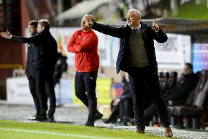 Ray McKinnon could lift Falkirk to their highest league position of the season - but they must beat Alloa first. Picture Michael Gillen.
