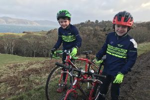 Cameron Duncan and Isaac Hughes of Falkirk Junior Bicycle Club. FJBC
