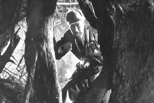 A scene from the 1929 Hound of the Baskervilles.  Picture Deutsches Filminstitut.