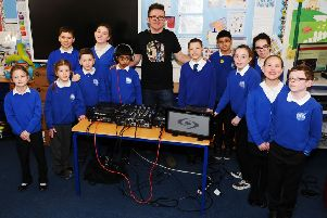 Windsor Park pupils are inspired by the success of DJ Def Beatz