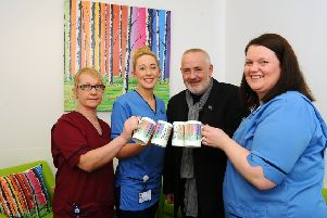 McCoo artist is wowed by new-look rooms in Forth Valley ICU