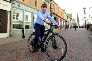 Falkirk's Active Hub helps MSP get on his e-bike