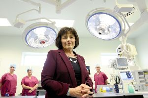 Health minister Jeane Freeman on a previous visit to Forth Valley Royal Hospital
