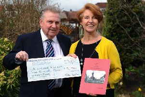 Denny author's   third book is a charity winner