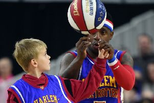 Harlem Globetrotters. (Photo by Ethan Miller/Getty Images)