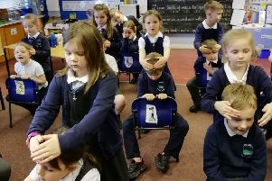 Shieldhill Primary School pupils get to grips with the Massage in Schools programme