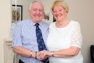Major milestone in the ongoing romance between Stenhousemuir's former referee and his beloved ballroom dancing partner
