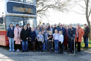 Villagers in Skinflats who use the F23 are irate at the council's decision to axe the bus service. Picture: Michael Gillen