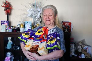 Stenhousemuir gran's birthday Easter egg appeal brings joy to kids