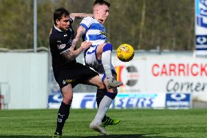Paul Paton was subbed just before half-time. Picture Alan Murray
