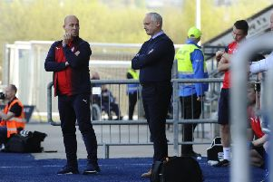 Darren Taylor and Ray McKinnon. Picture: Alan Murray.