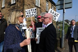 Protesters make feelings known about Grangemouth decision