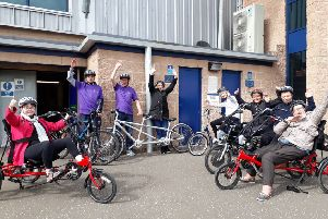 Fun and friendly cycles...resumed at Falkirk Stadium last week and already the six-week blocks of classes run by GOGA are booked out until September!