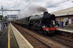 Britain's most famous train comes flying into Falkirk