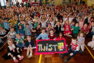Celebration time at Larbert's Ladeside Primary