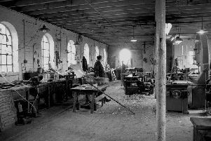 The patternmakers department at Denny Iron Works.