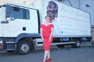 Falkirk mum's bridal salon truck is hair to stay