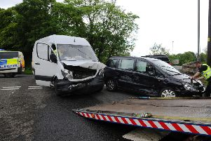 The scene of the accident. Picture: Michael Gillen
