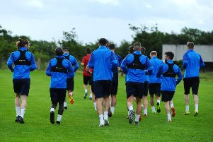 20-06-2019. Picture Michael Gillen. STIRLING. Stirling Uni. Falkirk FC players back for day one of pre-season training for SPFL League one 2019 - 2020 season.
