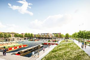 A CGI impression of what the new marina will look like