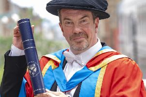 'Boabby the barman' Gavin is shaken and stirred by degree honour