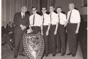 Falkirk British Rail first aiders celebrate win from 1969