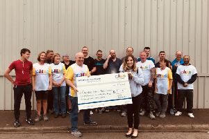 Kindhearted Carron workers raise £34,000 for CHAS