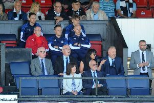 Falkirk directors watched Saturday's game against Ayr. Picture Michael Gillen.