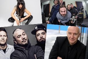 Party in the Palace will feature, clockwise from left, KT Tunstall, Fat Cops, Midge Ure and the Fun Lovin' Criminals among other