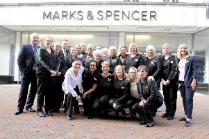 M&S staff on the day the Falkirk High Street store closed on August 11, 2018