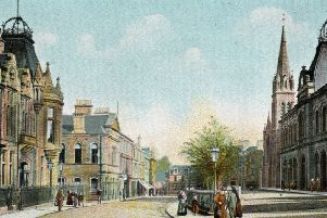 Newmarket Street, Falkirk, as it was in the late 19th century.