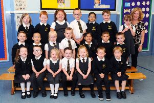 Watch as Falkirk's new Primary 1 pupils shout out their excitement at starting school