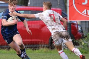 Falkirk rugby winger Sean Taylor scores on his U19s Scotland Rugby League debut