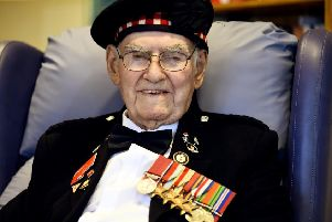 Veteran and fundraiser Tom Gilzean, who has died aged 99.