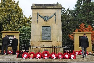 Falkirk Remembrance Sunday parade and service.