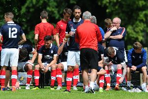 Ray McKinnon held talks with his players on Monday.