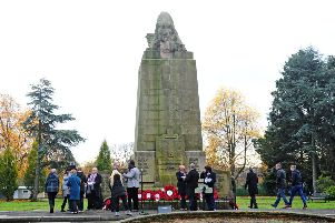 Grangemouth Remembrance Day Service at the war memorial in Zetland Park on Sunday, November 10.