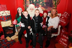 Visits to Santa at the Howgate will aid Forth Valley Sensory Centre manager Jacquie Winning (right) and her staff. Picture: Michael Gillen